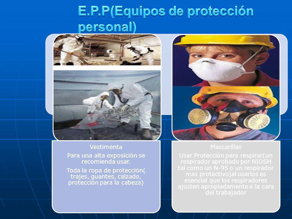 E.P.P(Equipos de protección personal)