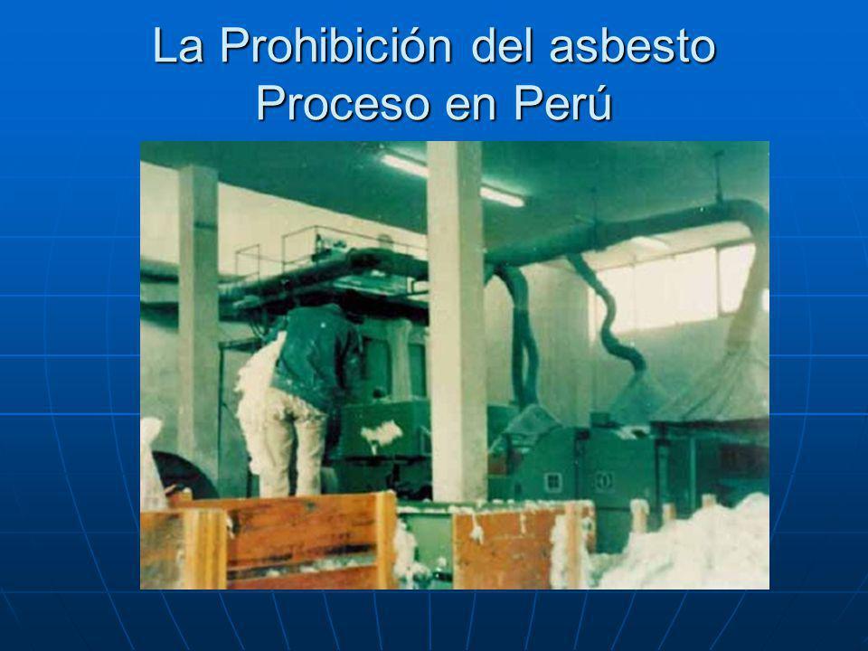 La Prohibición del asbesto Proceso en Perú