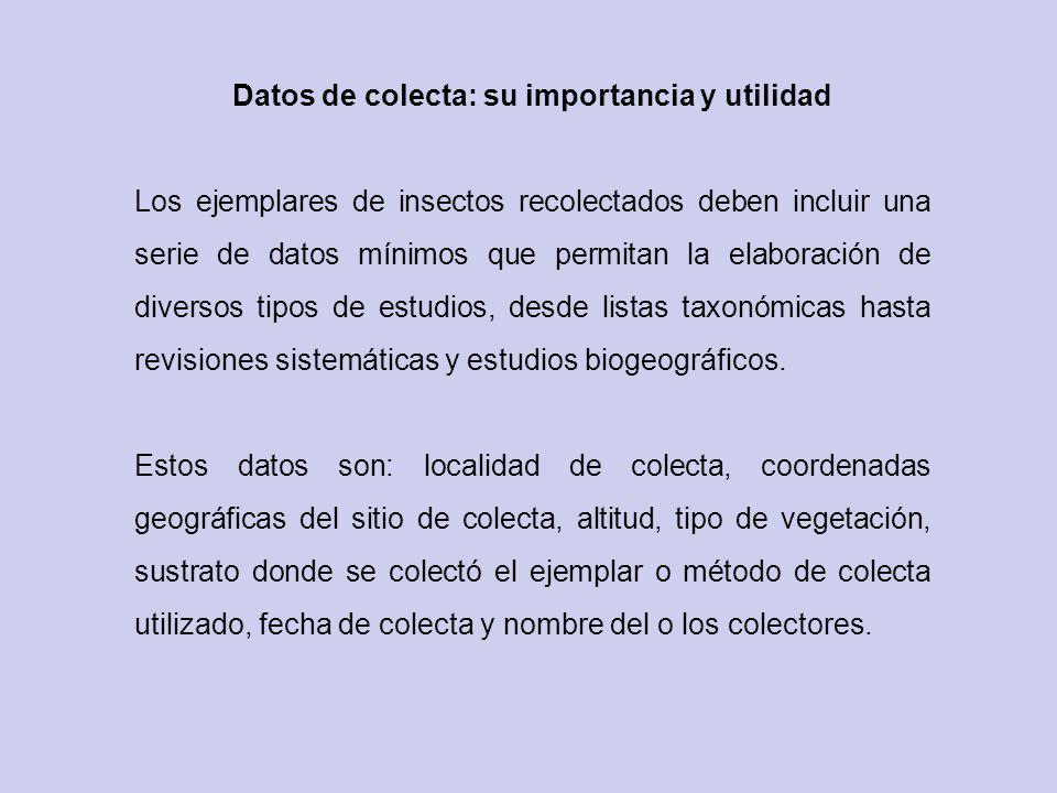 Datos de colecta: su importancia y utilidad