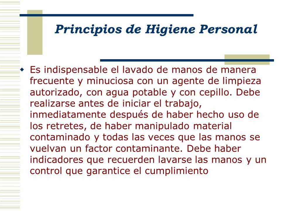 Principios de Higiene Personal