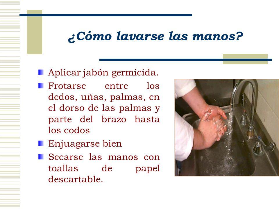 ¿Cómo lavarse las manos