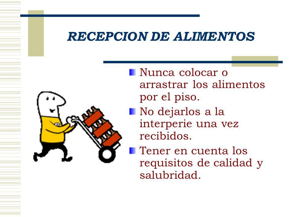 RECEPCION DE ALIMENTOS