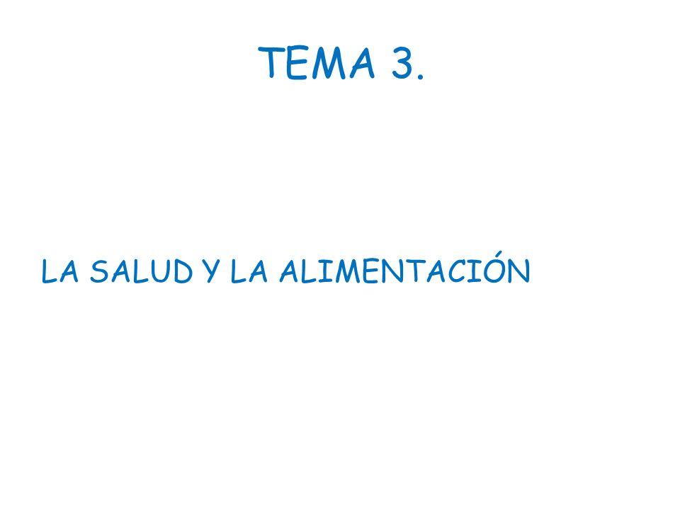 TEMA 3. LA SALUD Y LA ALIMENTACIÓN