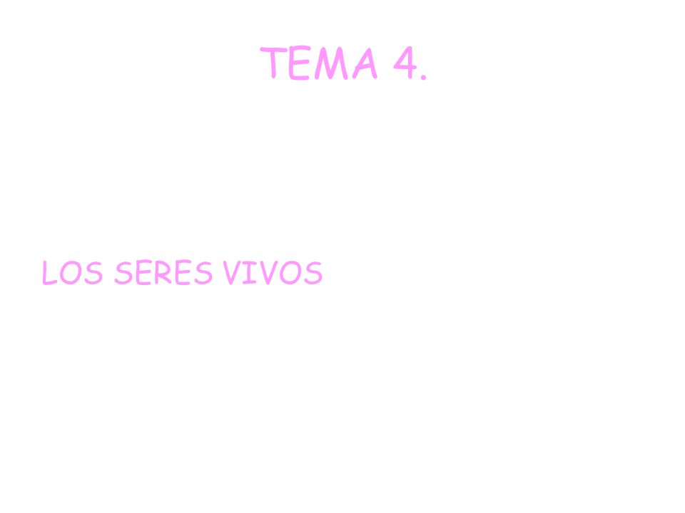 TEMA 4. LOS SERES VIVOS