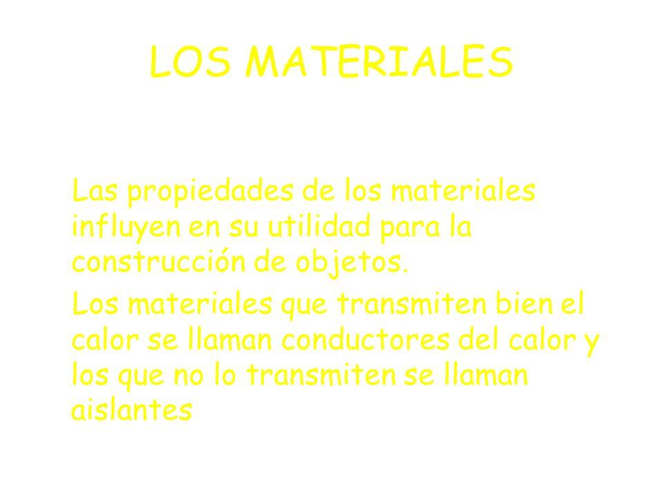LOS MATERIALES