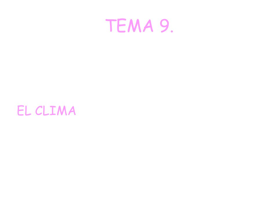TEMA 9. EL CLIMA