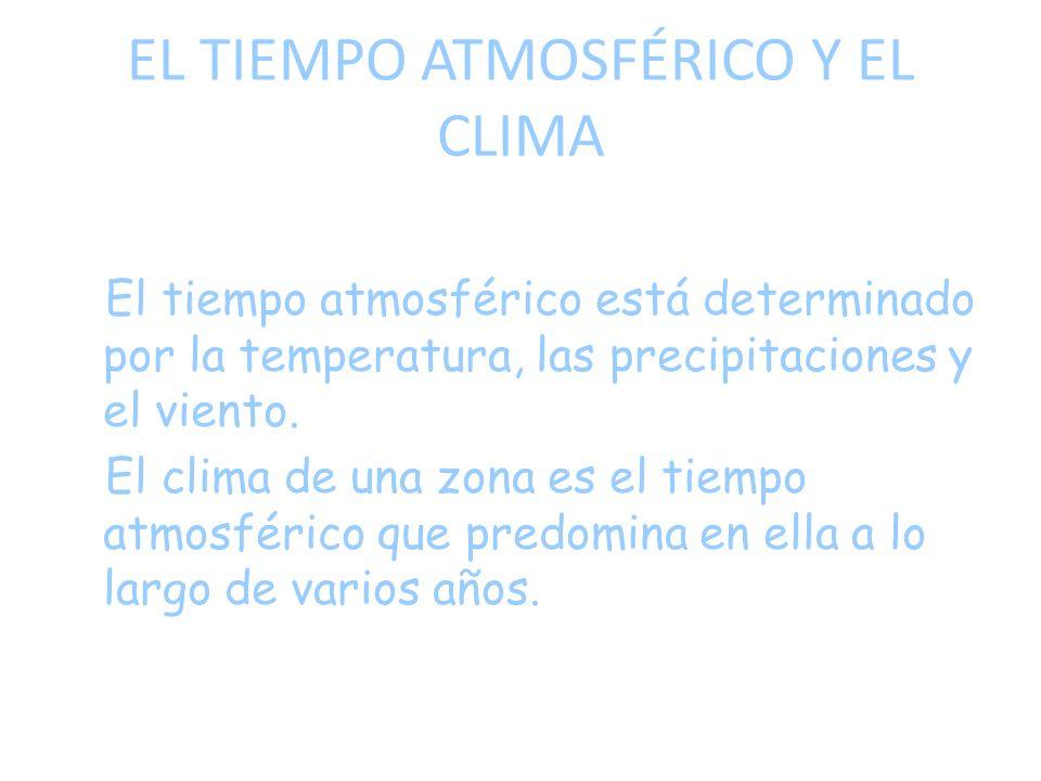 EL TIEMPO ATMOSFÉRICO Y EL CLIMA