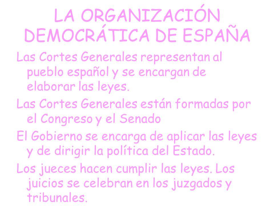 LA ORGANIZACIÓN DEMOCRÁTICA DE ESPAÑA
