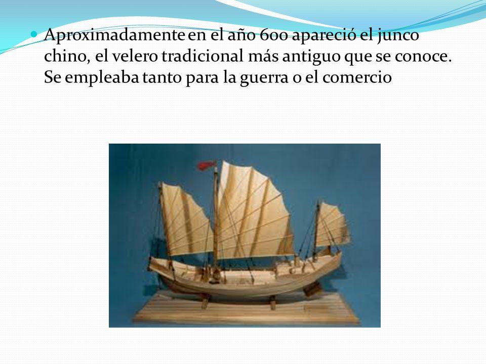 Aproximadamente en el año 600 apareció el junco chino, el velero tradicional más antiguo que se conoce.