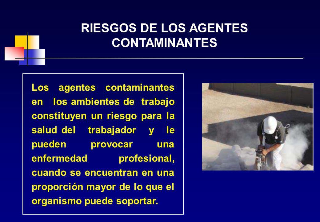 RIESGOS DE LOS AGENTES CONTAMINANTES