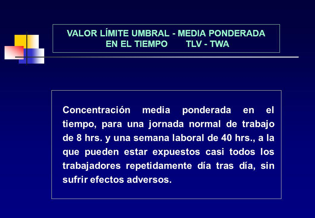 VALOR LÍMITE UMBRAL - MEDIA PONDERADA