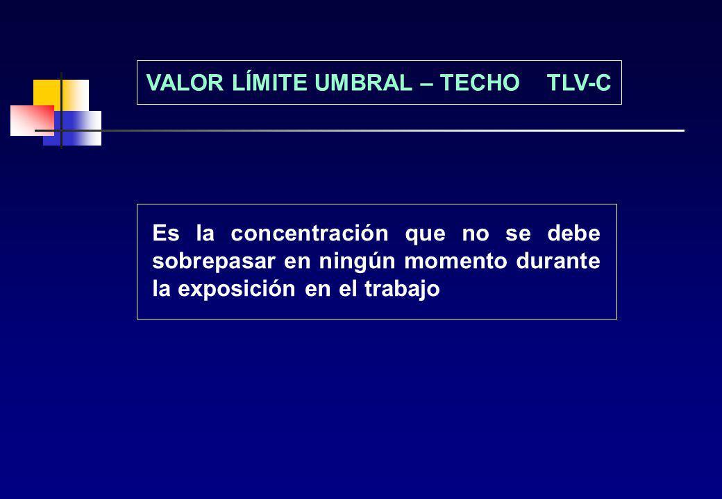 VALOR LÍMITE UMBRAL – TECHO TLV-C