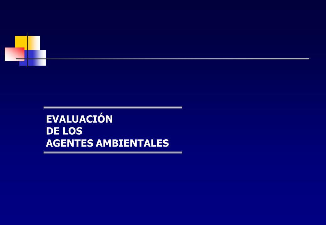 EVALUACIÓN DE LOS AGENTES AMBIENTALES