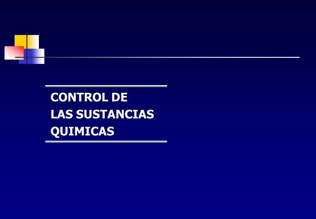 CONTROL DE LAS SUSTANCIAS QUIMICAS