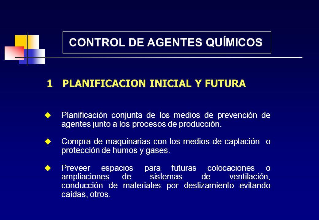 CONTROL DE AGENTES QUÍMICOS