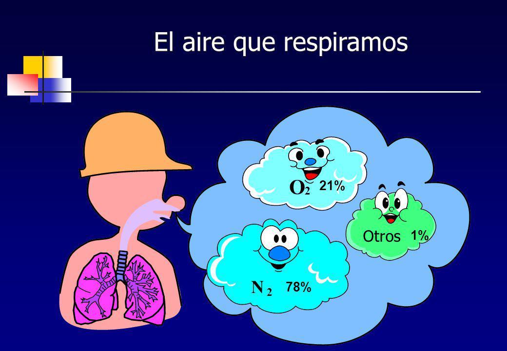 El aire que respiramos N 2 78% O 21% 1% Otros
