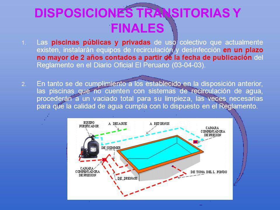 DISPOSICIONES TRANSITORIAS Y FINALES