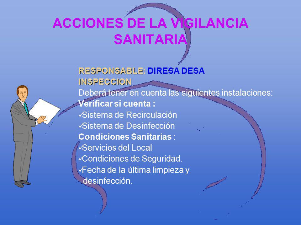 ACCIONES DE LA VIGILANCIA SANITARIA