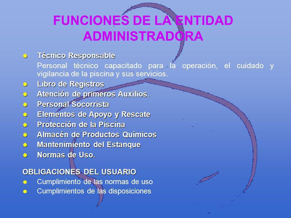 FUNCIONES DE LA ENTIDAD ADMINISTRADORA