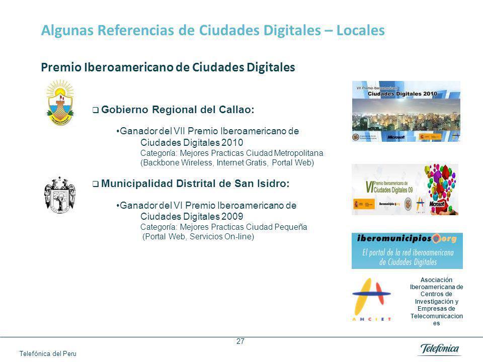 Algunas Referencias de Ciudades Digitales – Regionales