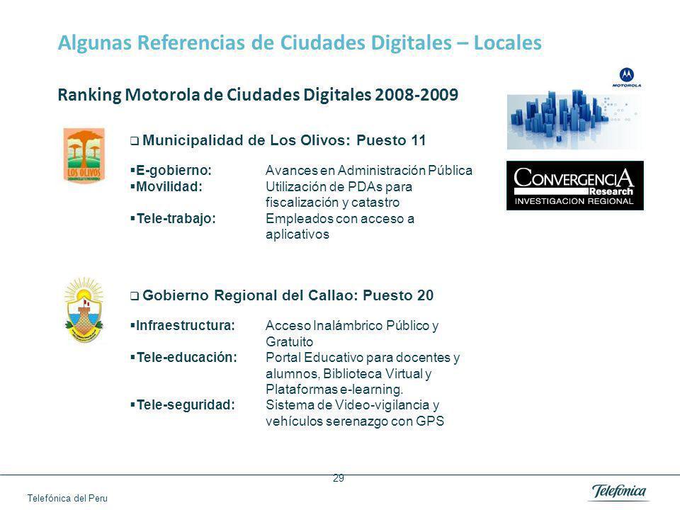 Algunas Referencias de Ciudades Digitales – Locales
