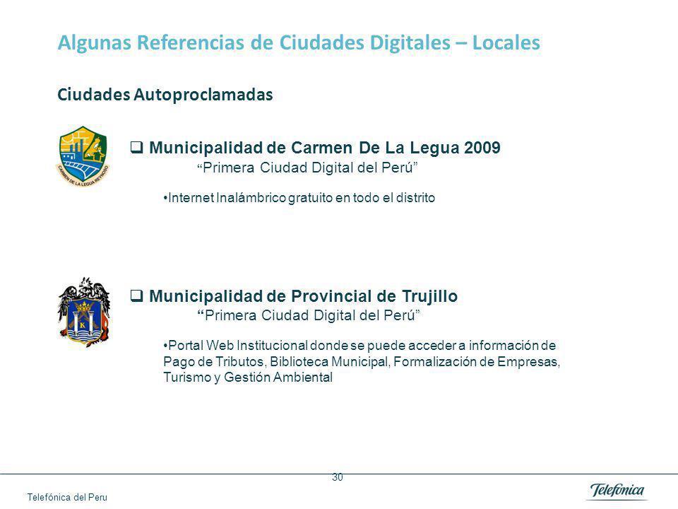 Algunas Referencias de Ciudades Digitales - España