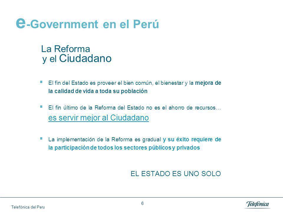 e-Government en el Perú