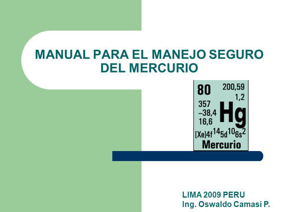 MANUAL PARA EL MANEJO SEGURO DEL MERCURIO
