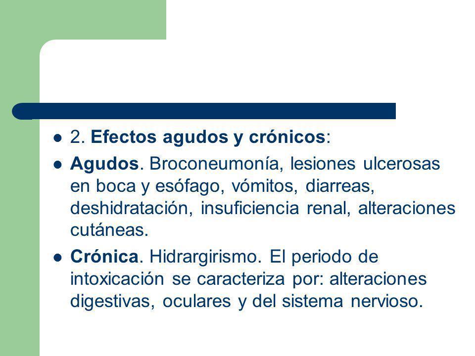 2. Efectos agudos y crónicos: