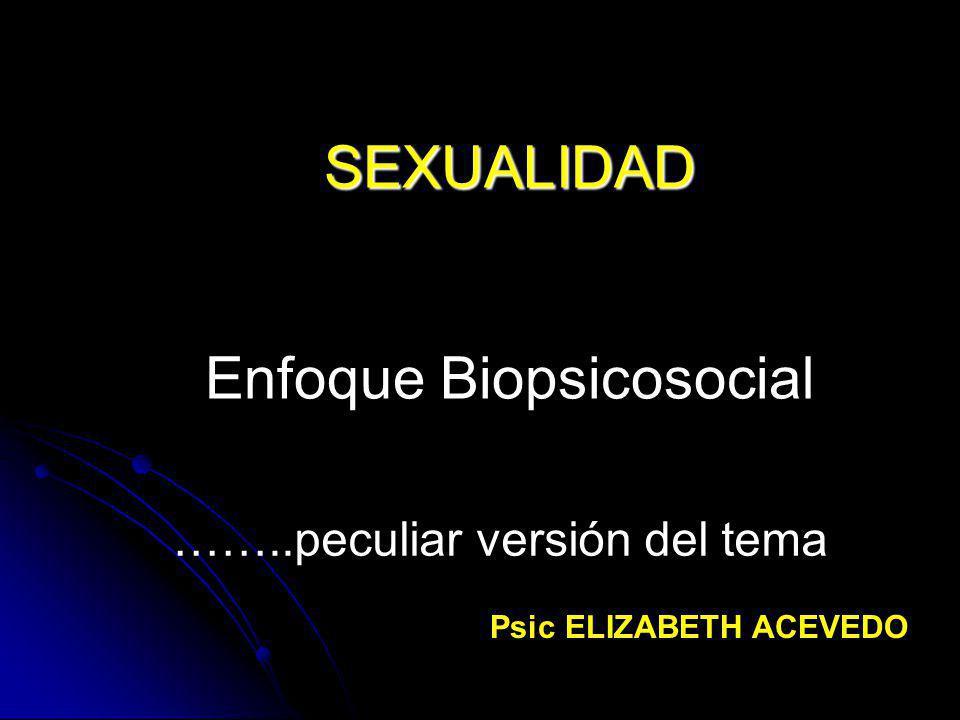 SEXUALIDAD Enfoque Biopsicosocial