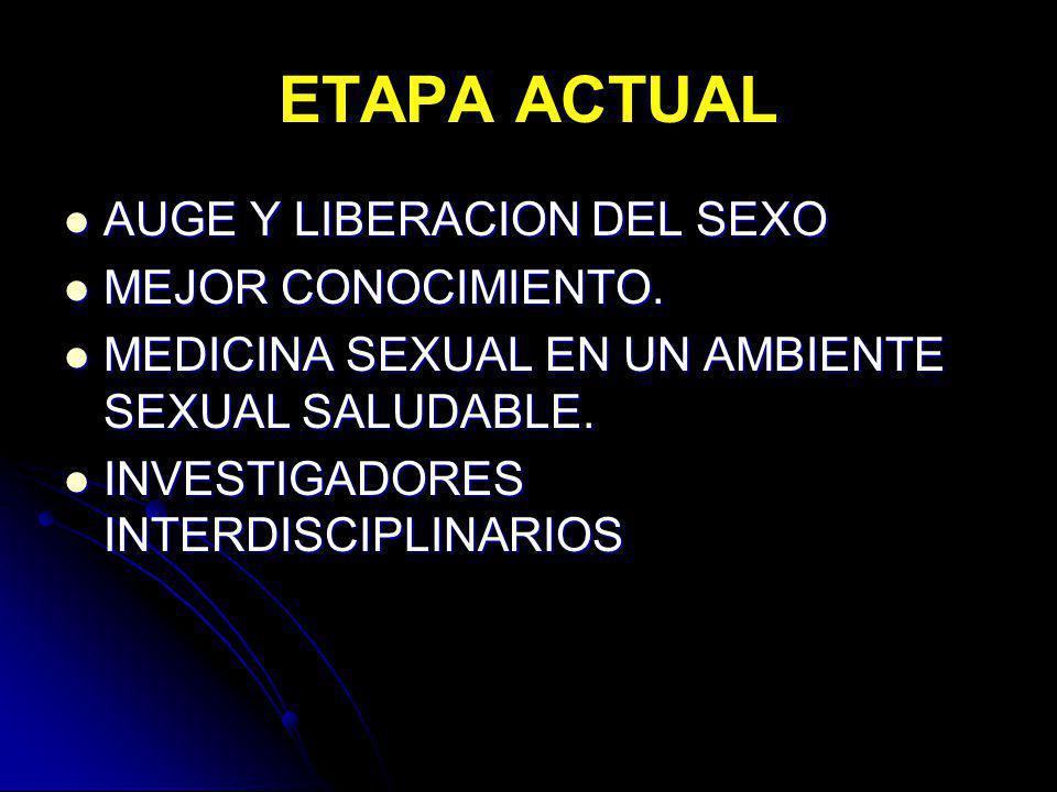 ETAPA ACTUAL AUGE Y LIBERACION DEL SEXO MEJOR CONOCIMIENTO.