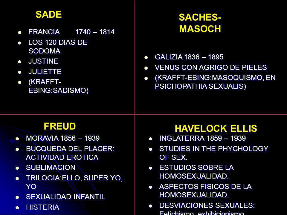 SADE SACHES-MASOCH FREUD HAVELOCK ELLIS