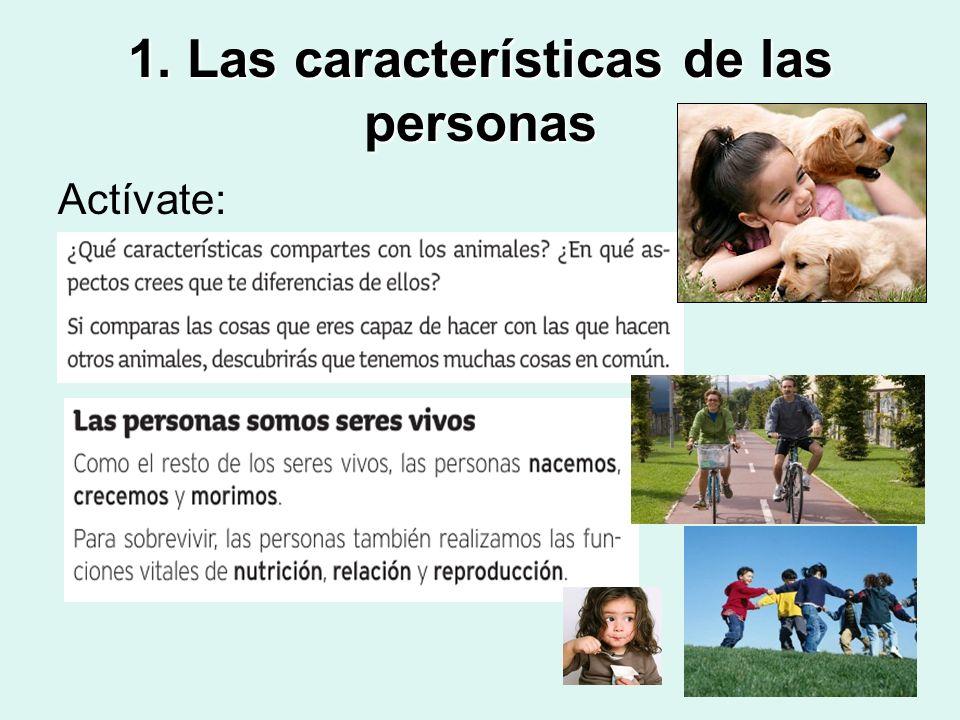 1. Las características de las personas