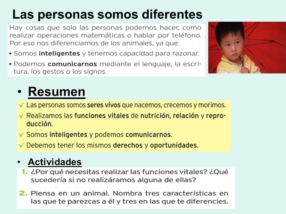 Las personas somos diferentes