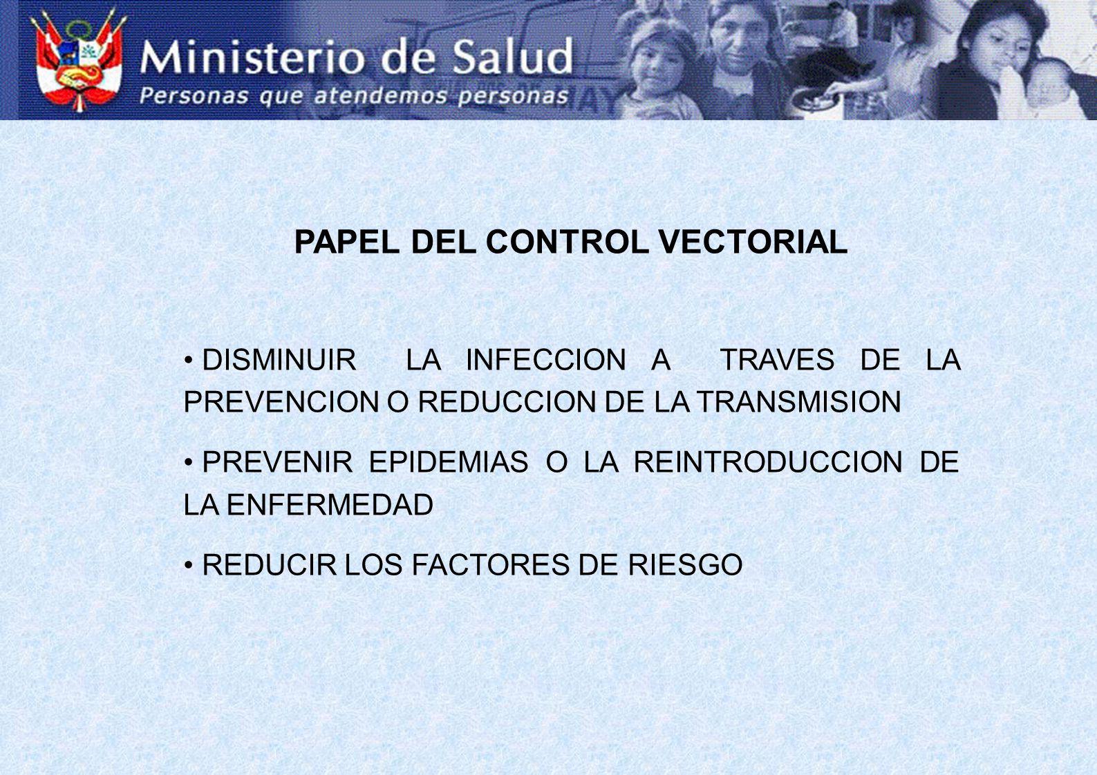 PAPEL DEL CONTROL VECTORIAL