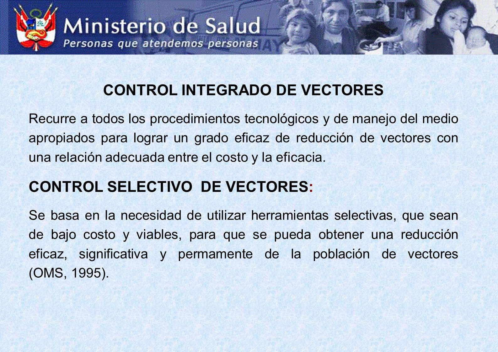 CONTROL INTEGRADO DE VECTORES