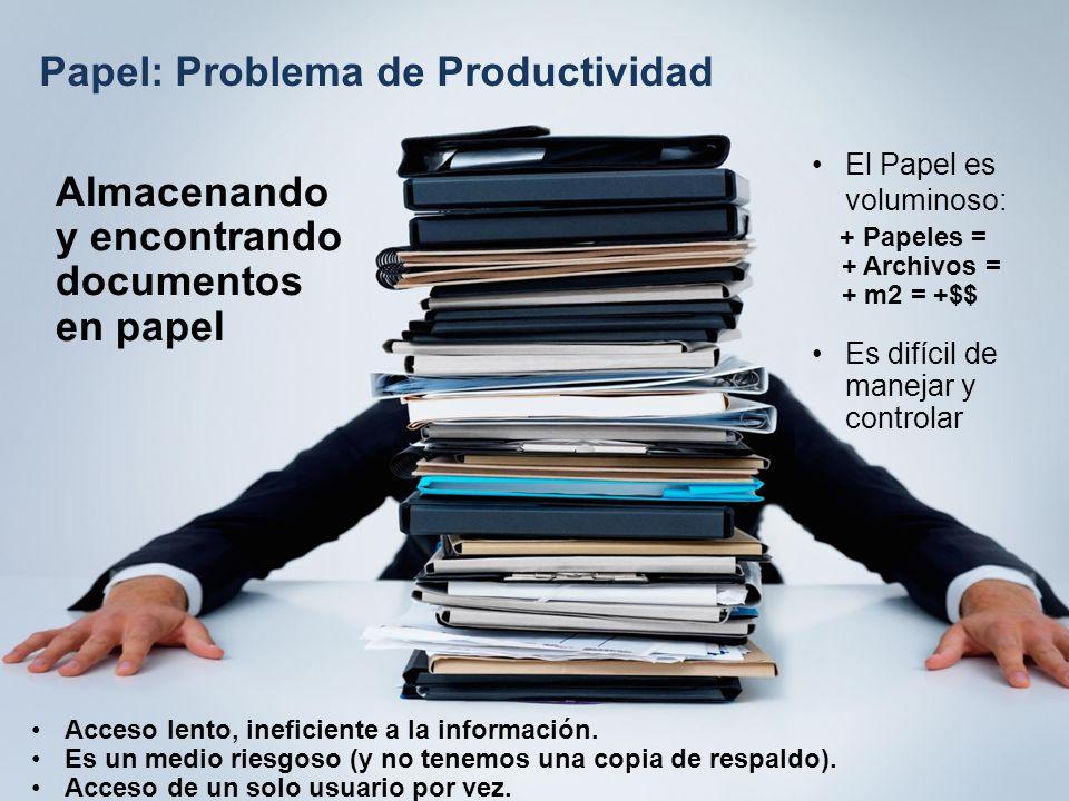 Papel: Problema de Productividad