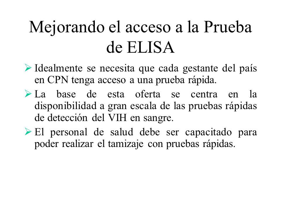 Mejorando el acceso a la Prueba de ELISA