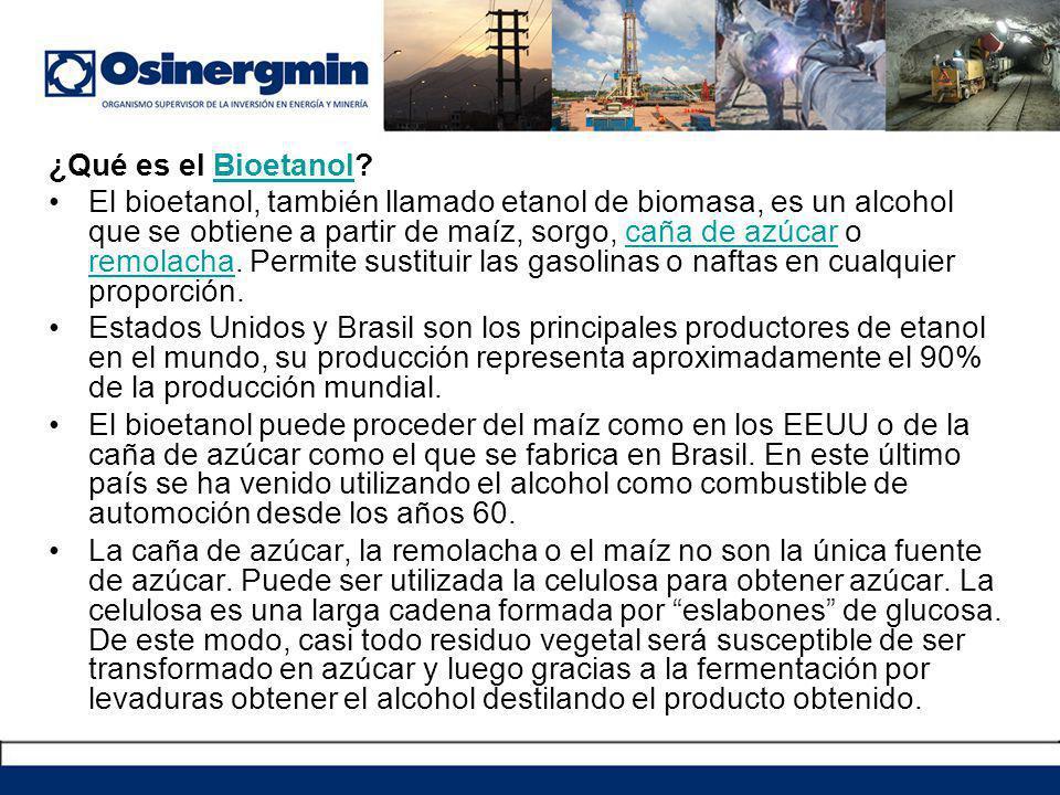 ¿Qué es el Bioetanol