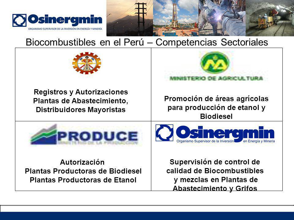 Biocombustibles en el Perú – Competencias Sectoriales