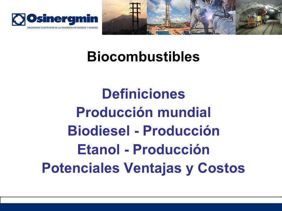 Biodiesel - Producción Potenciales Ventajas y Costos