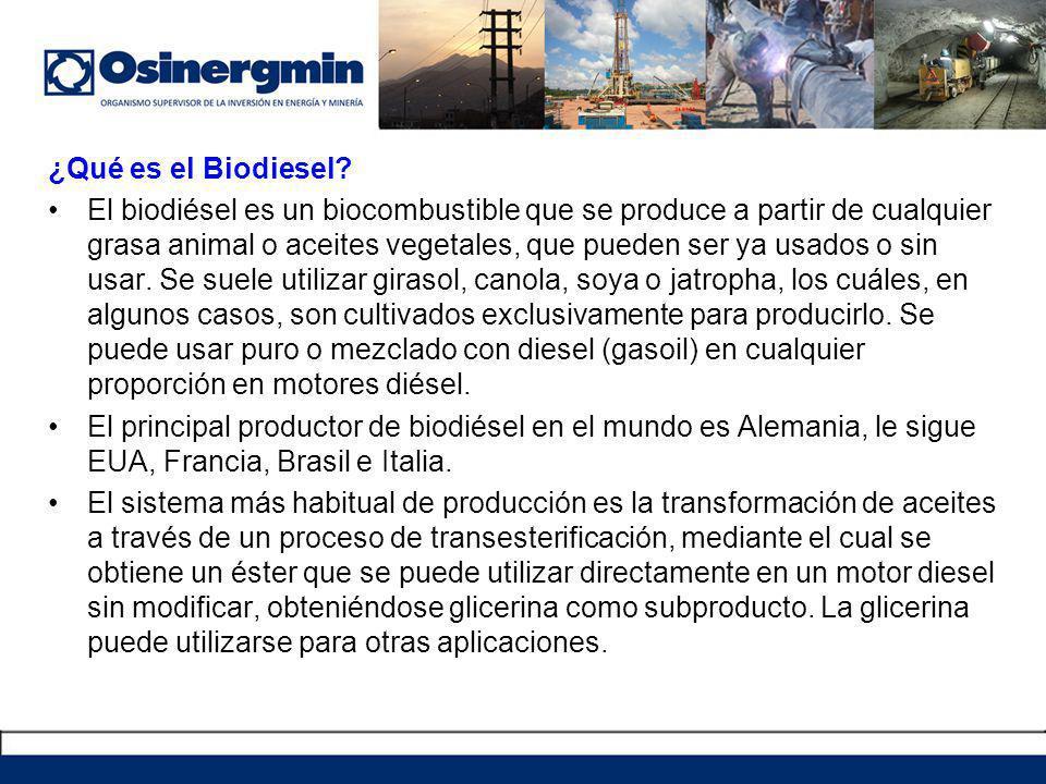 ¿Qué es el Biodiesel