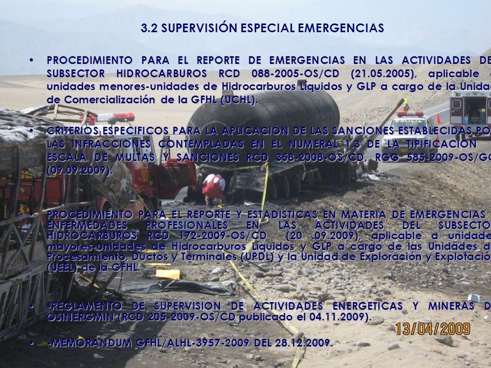 3.2 SUPERVISIÓN ESPECIAL EMERGENCIAS