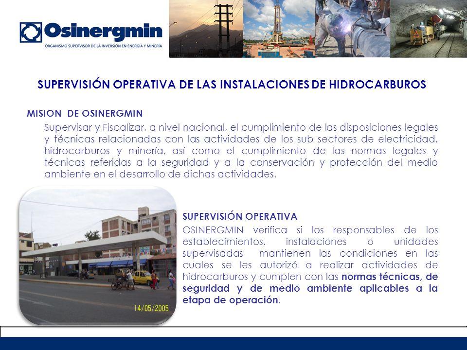 SUPERVISIÓN OPERATIVA DE LAS INSTALACIONES DE HIDROCARBUROS