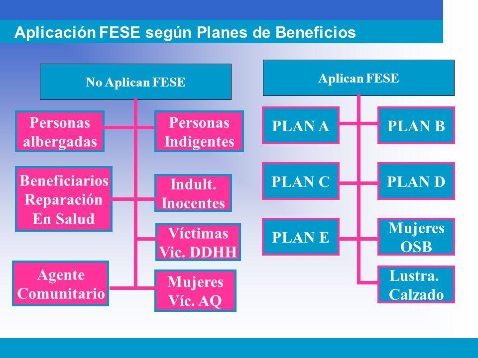 Aplicación FESE según Planes de Beneficios