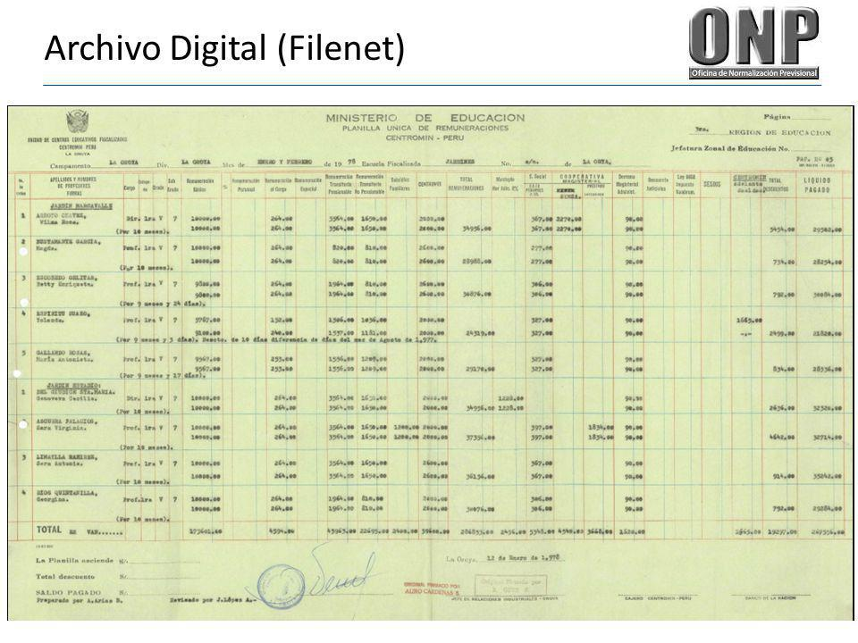 Archivo Digital (Filenet)