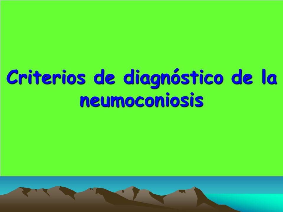 Criterios de diagnóstico de la neumoconiosis