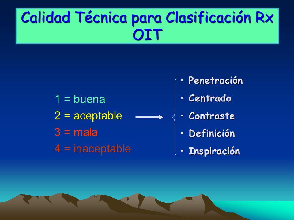 Calidad Técnica para Clasificación Rx OIT