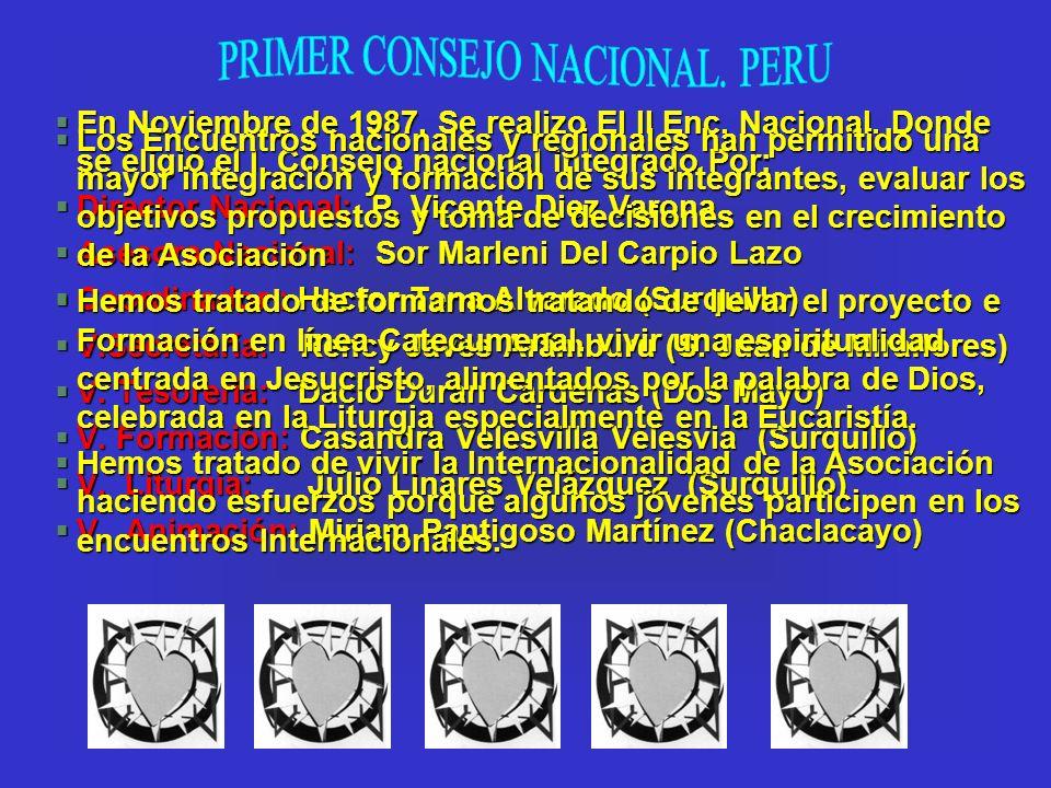 PRIMER CONSEJO NACIONAL. PERU