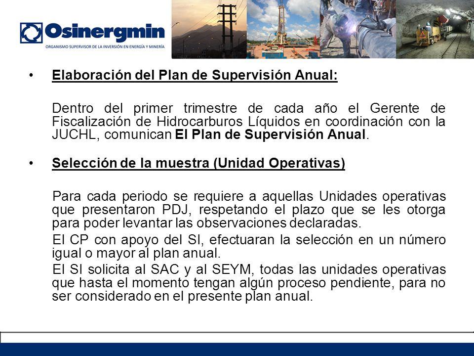 Elaboración del Plan de Supervisión Anual: